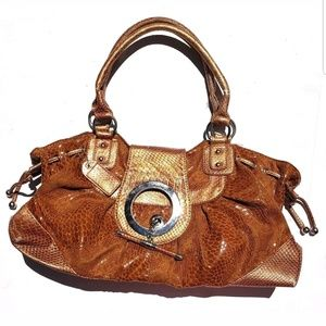 Women's Purse Copper Orange Faux Animal Skin